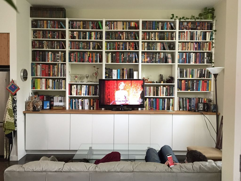 Ikea hack builtin cabinets and bookshelves ikea hack brutalist
