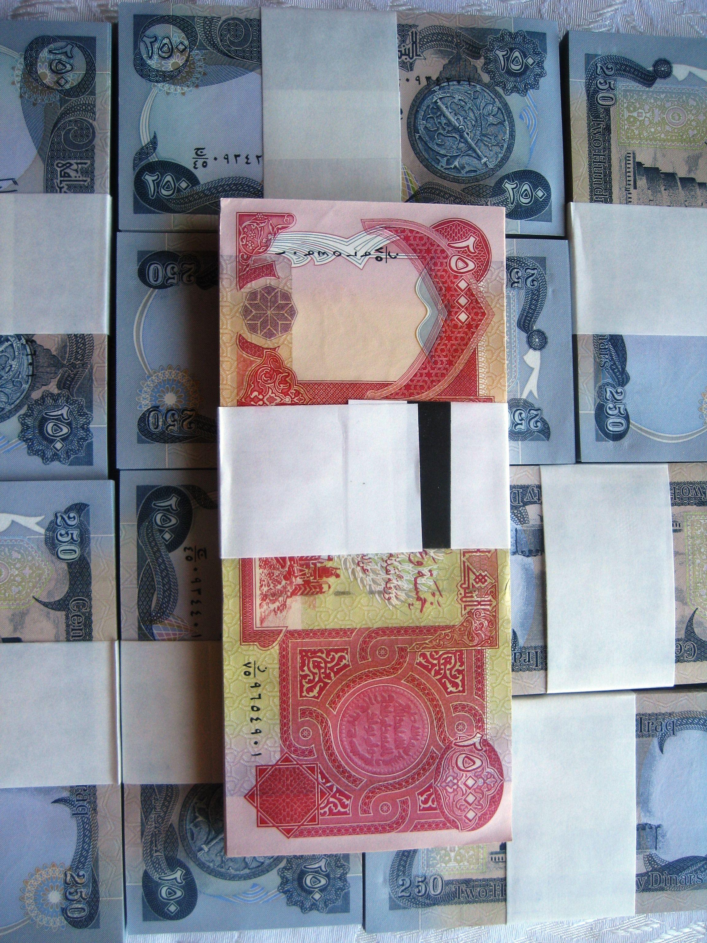 Iraqi Dinar 25,000 and 5,000 Notes Bundles BuyIraqiDinarHere Com