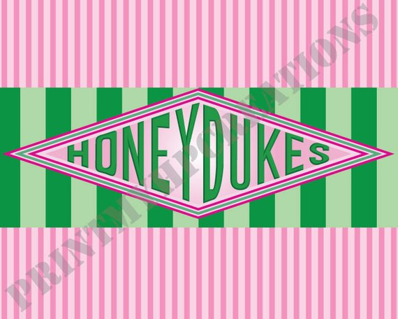 picture about Honeydukes Sign Printable called Honeydukes Indicator - Prompt Down load PDF Printable Indication - 8\