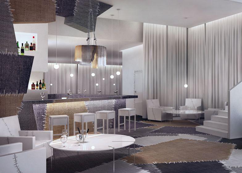 Stitched Surface Interiors | Interiors, Restaurant Interior Design And Room