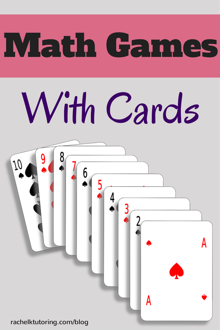 Math Games With Cards - Rachel K Tutoring Blog
