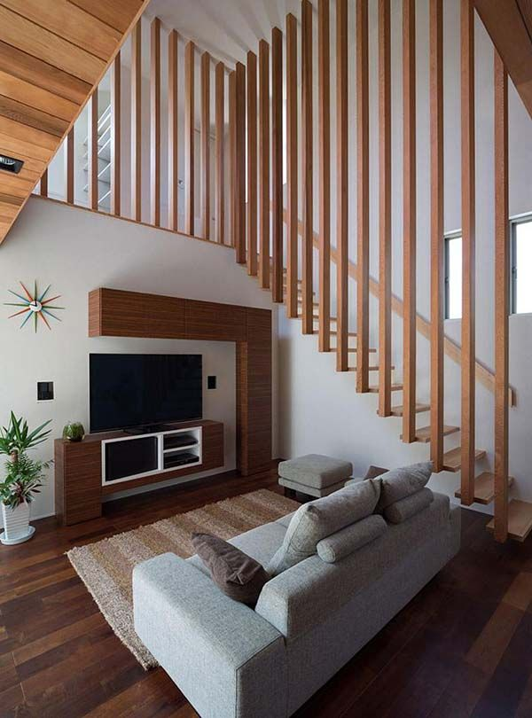 Mesmerizing M4 House In Japan By Architect Show Staircase Design Stairs Design Modern Wooden House