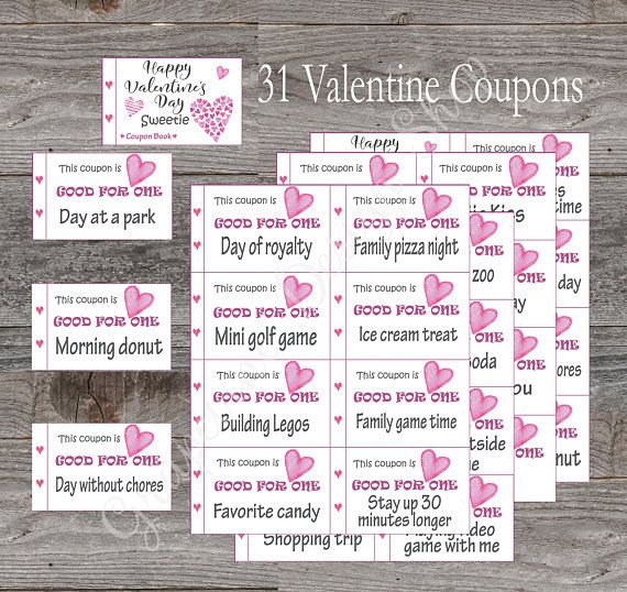 Kids ValentineS Day Coupon Book  Coupons Childrens