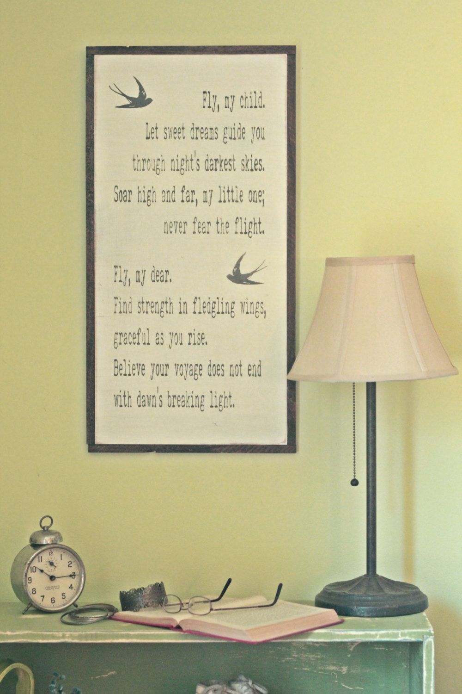 Framed wood sign, wood wall art, nursery wall art, nursery sign ...