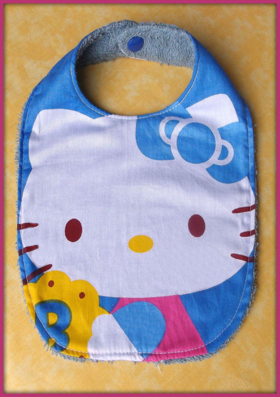 Bavoir en tissu coton motif chat tissu éponge : Mode Bébé par orkan28