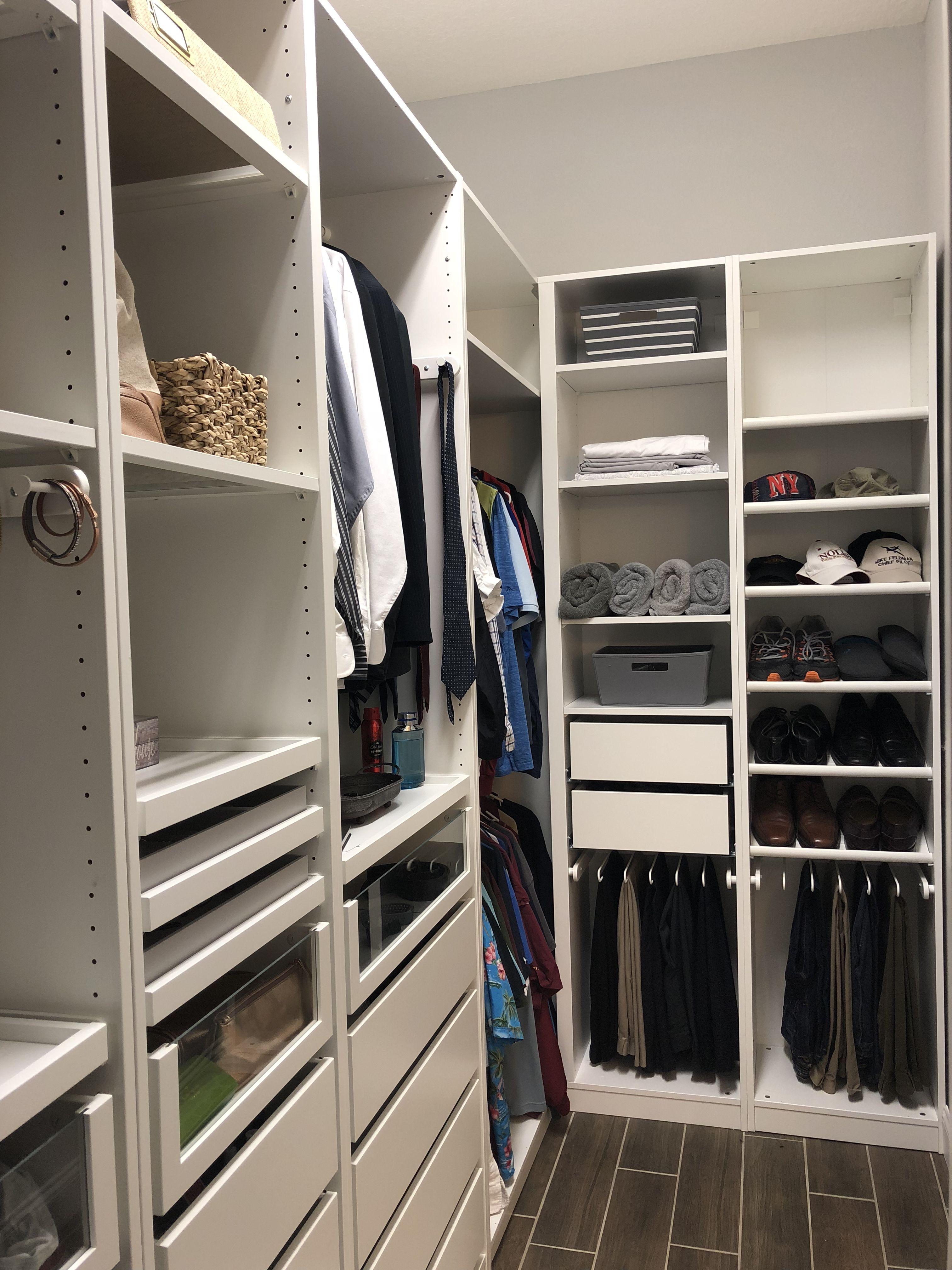 Ikea Pax Wardrobe His Side Closet Layout Walk In Closet Ikea Closet Planning