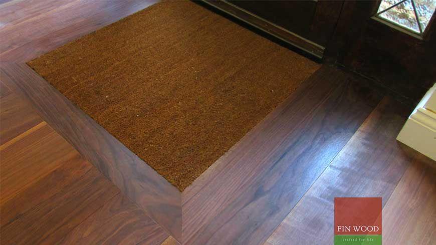 Beau Integrated Doormat In Wooden Flooring Craftmanship 2