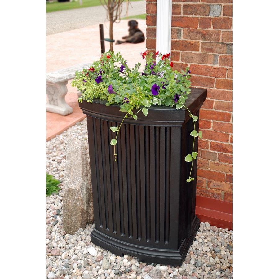 Shop Mayne 40 Gallon Black Plastic Rain Barrel At Lowes Com Rain Catcher Decorative Rain Barrels Rain Barrel