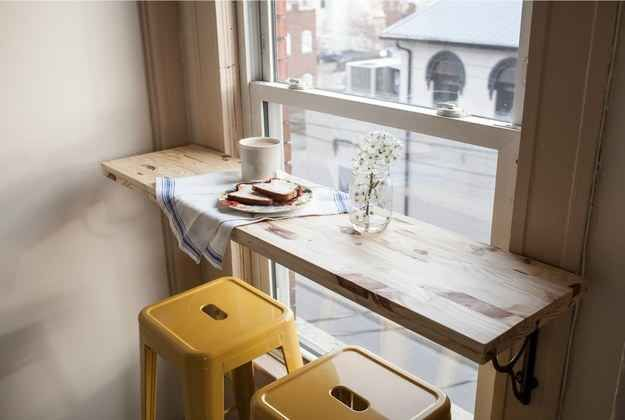 Install a breakfast bar.