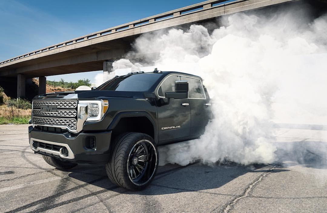 2020 Gmc Sierra Hd On Instagram Gmcallterrain Is Running 35 Inch Toyo R T And 20 H114 Fury Hostile Wheels On Gmc Trucks Gmc Trucks Sierra Jacked Up Trucks