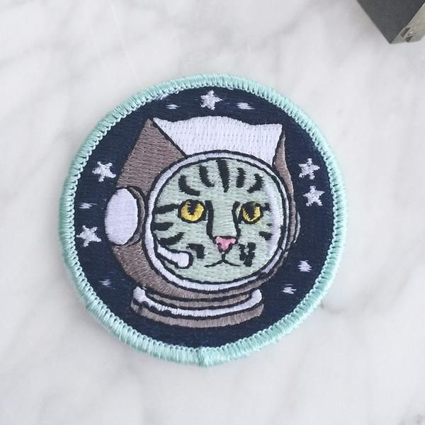 Space cat…astronaut cat…alien cat…yeah, we had some fun with this one because what's better than an adorable kitty exploring outer space?! Patch by Wildflower +