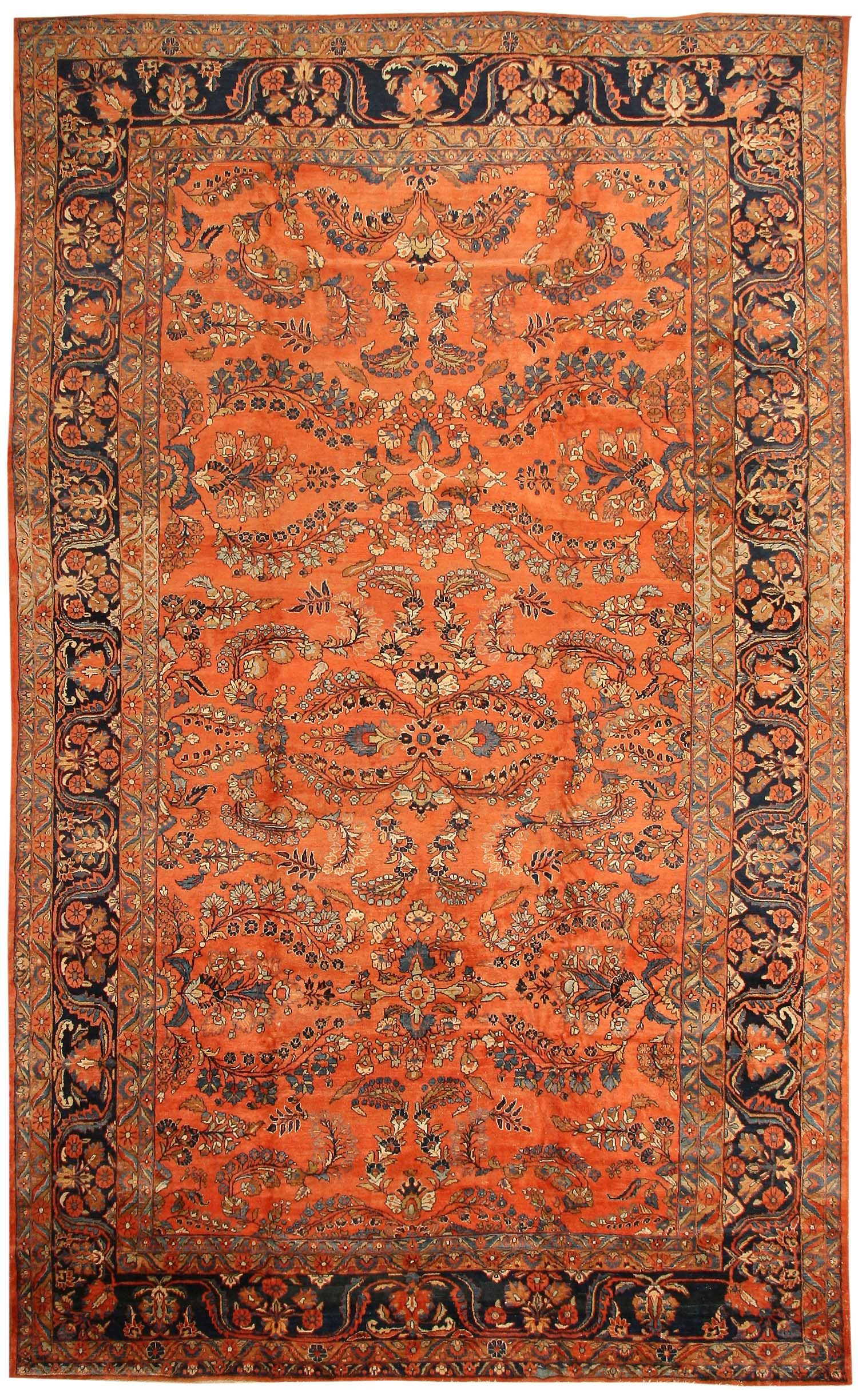 Antique Sultanabad Persian Carpet 40470 Detail Large View By Nazmiyal