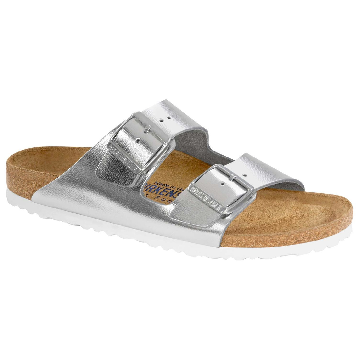 5038c50bb906 Arizona Natural Leather Soft Footbed Sirocco Silver