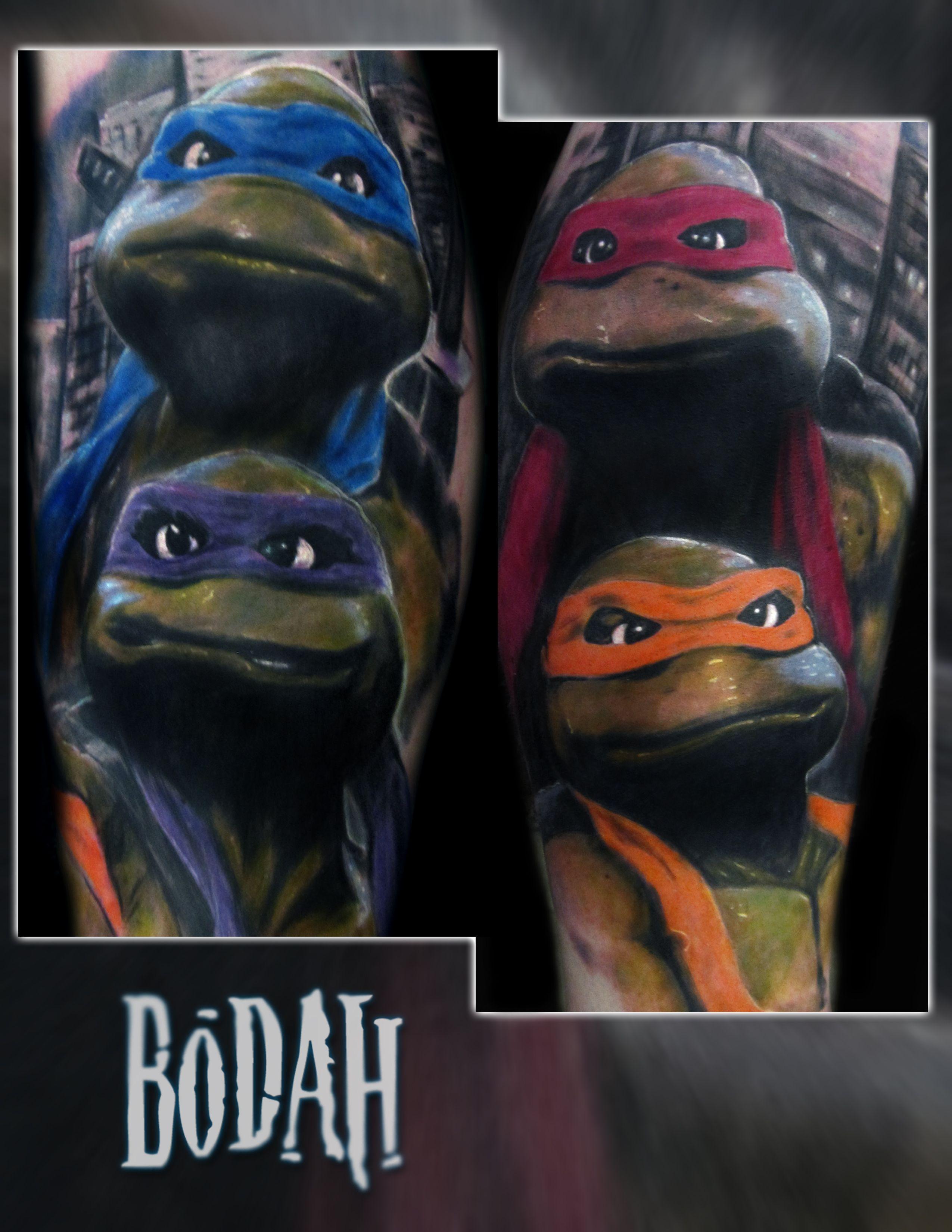 Tmnt Tattoo 90 S Teenage Mutant Ninja Turtle Movie Inspired Calf