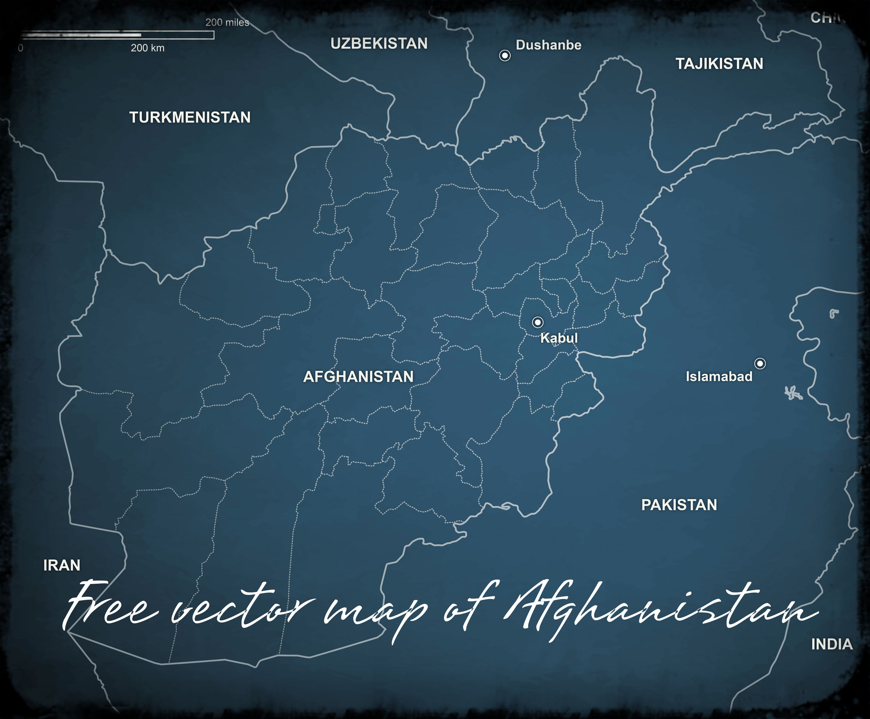 Download a completely free vector map of Afghanistan AI EPS PDF