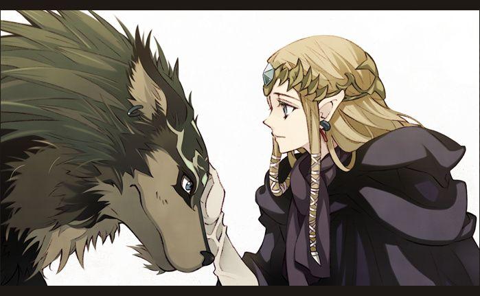 Zelda And Wolf Link From Twilight Princess Legend Of Zelda