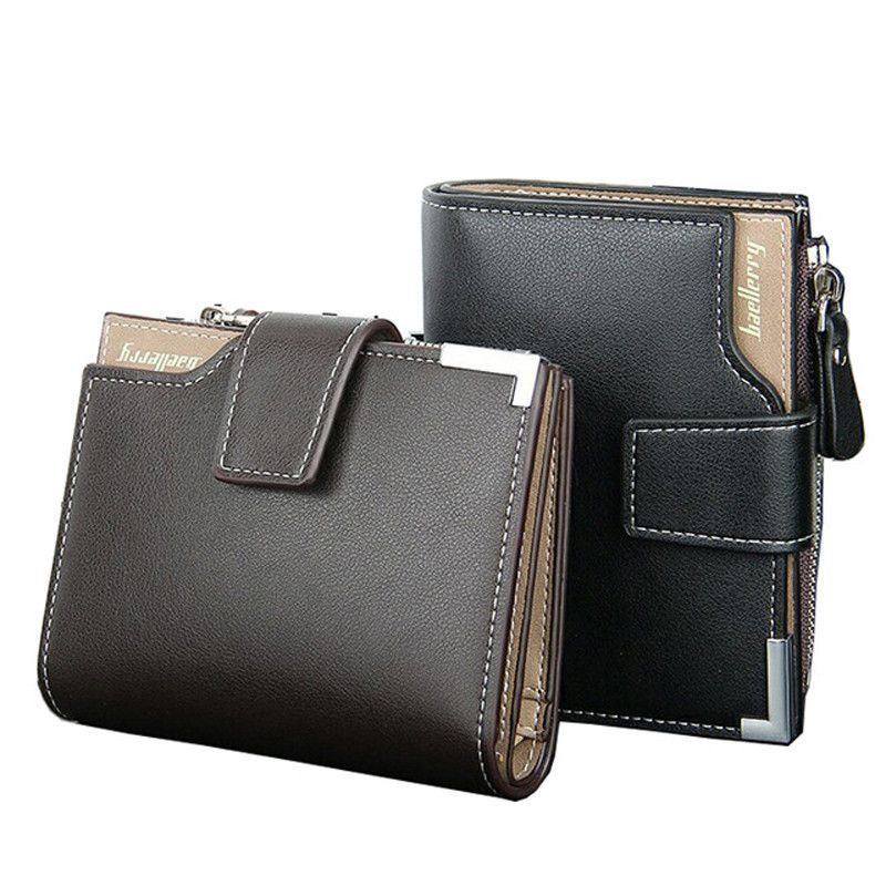Leather Bifold Wallet for Men. Card Holder & Coin Purse