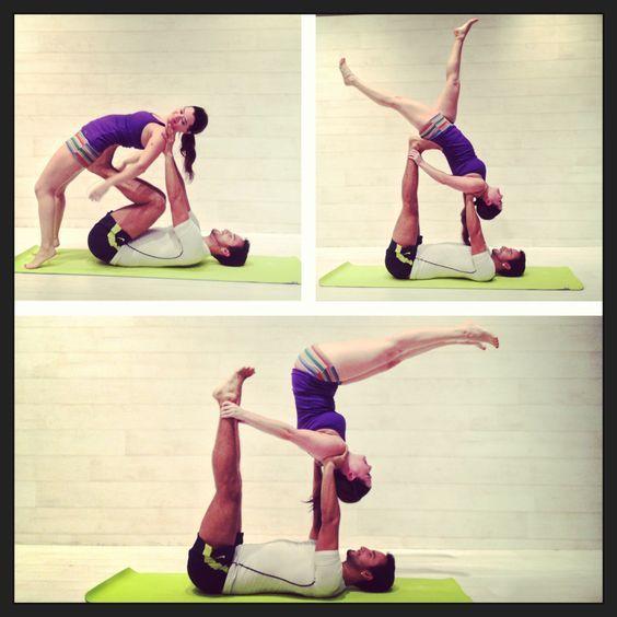 Acro Yoga Avec Images Yoga A Deux Exercices De Yoga