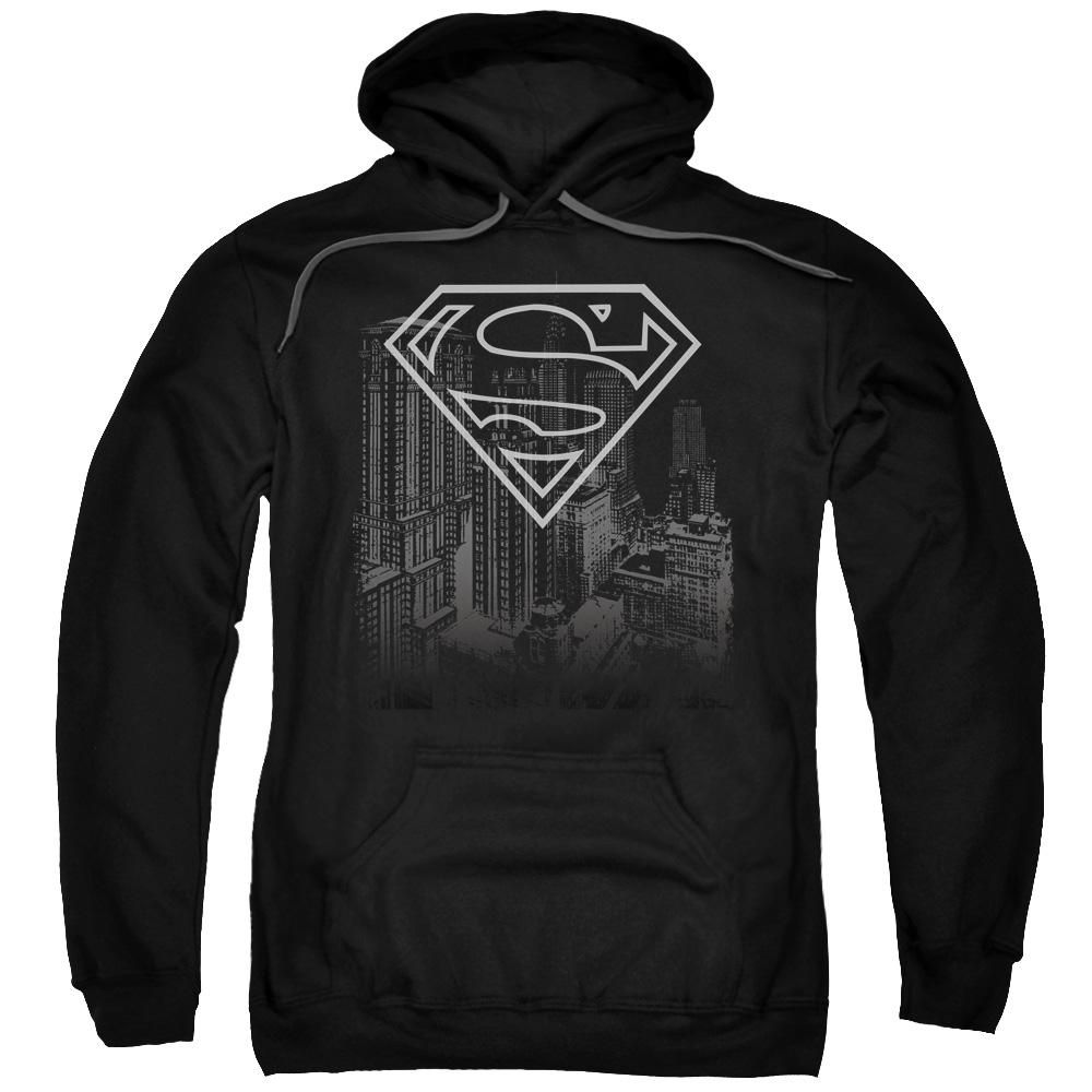 Superman - Skyline Adult Pull Over Hoodie   Hoodies ...