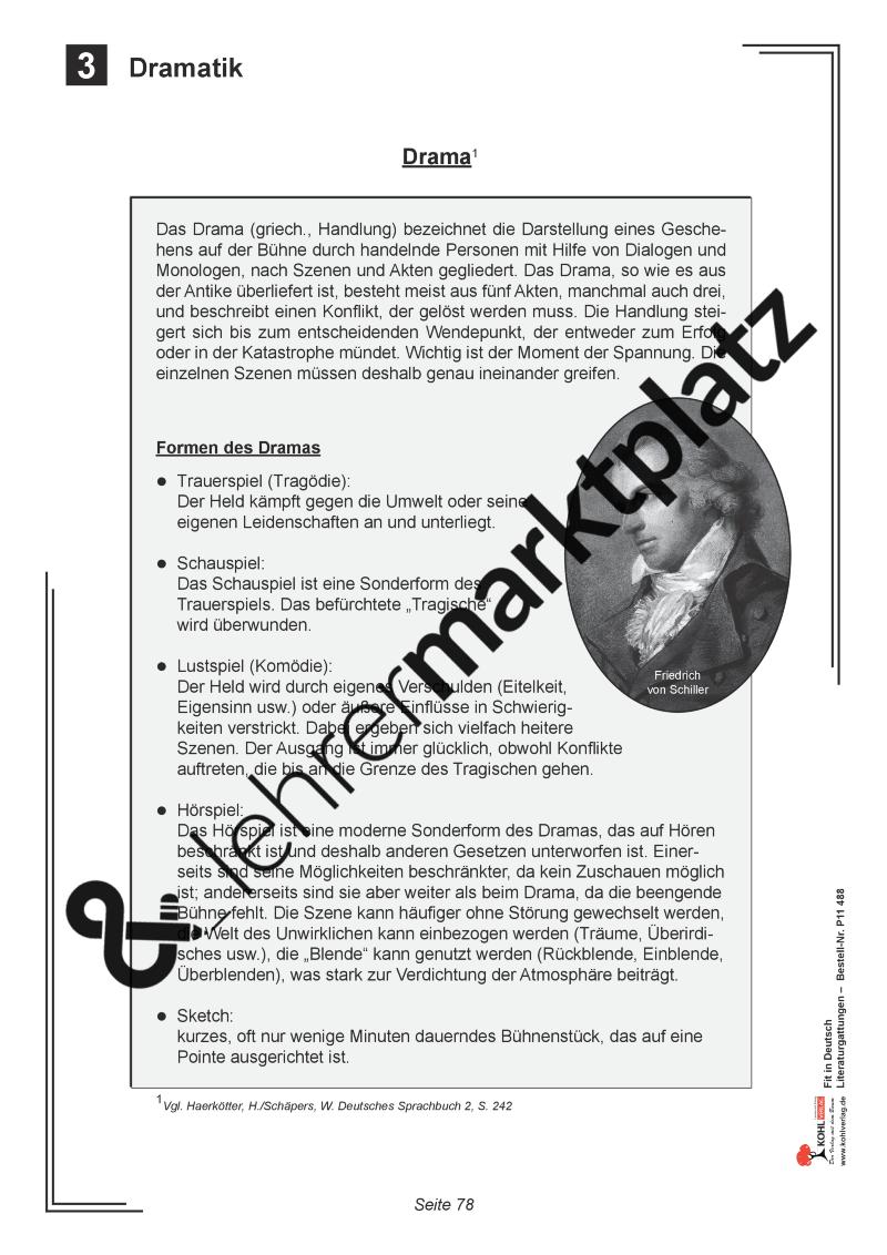 Fit in Deutsch: Literaturgattungen - Drama | Kohl Verlag | Pinterest ...