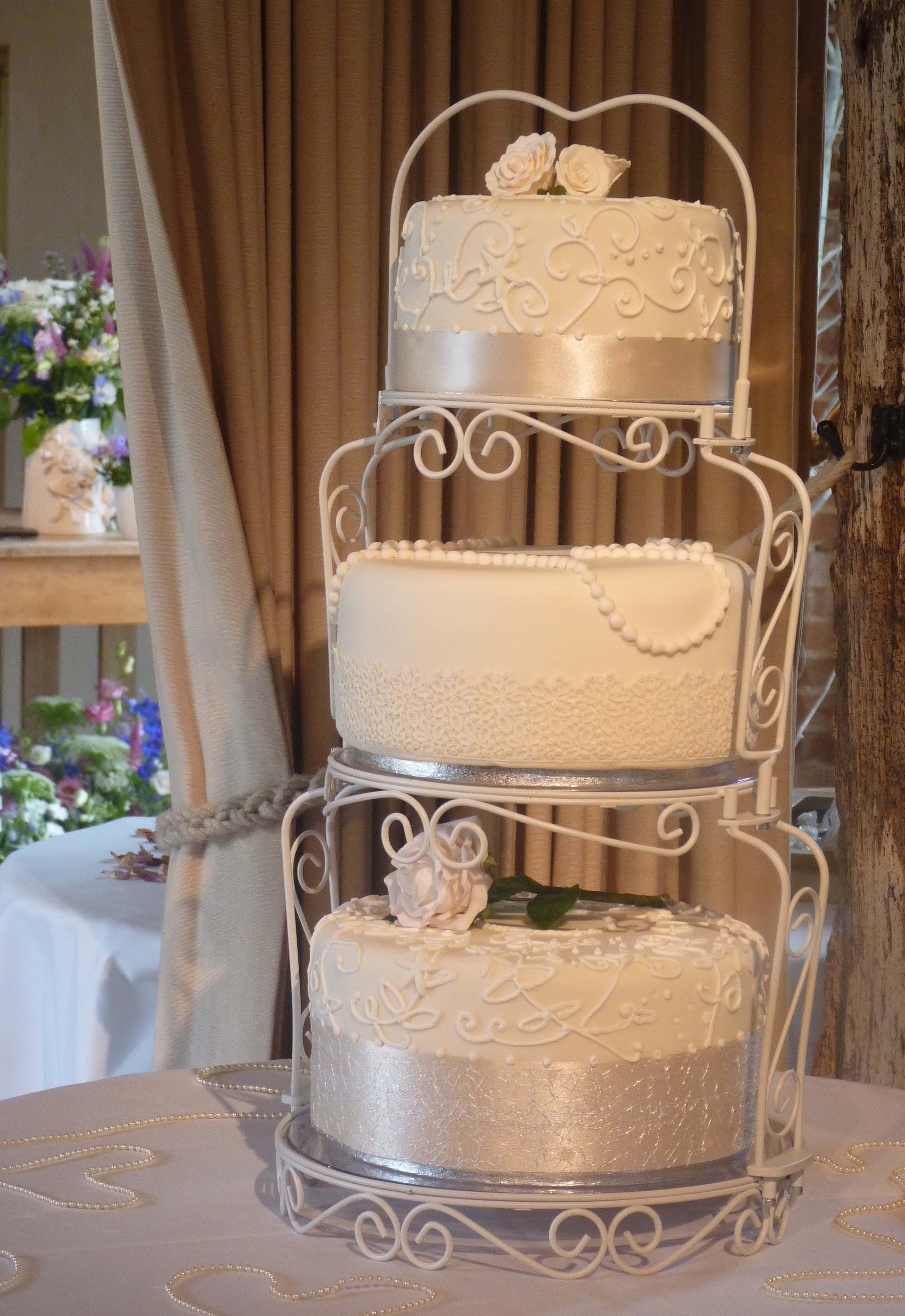 Vintage 3 Tier Wedding Cake Stand Beautiful Ideas Stands Awesome Idea