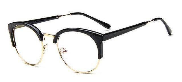 8188b2ef06 Retro Nerd Glasses Round Cat Eye Glasses Frame for Women Eyeglass Frames  Fashion Clear Eyeglasses Optical Eyewear