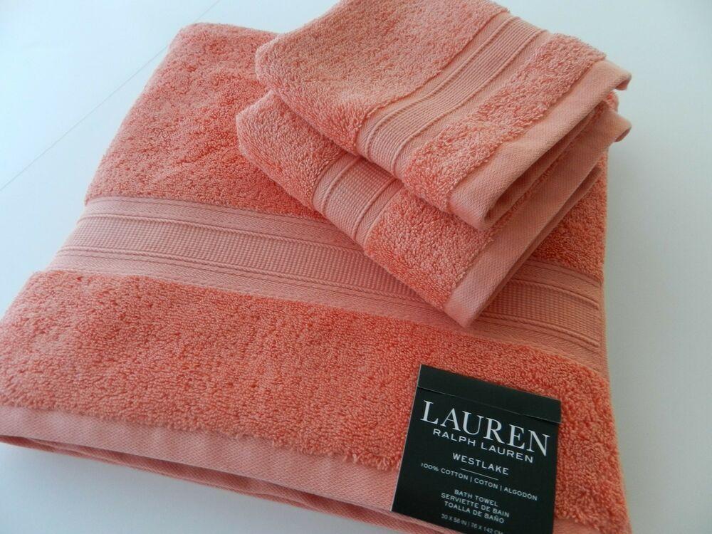 Ebay Sponsored Nwt Ralph Lauren Westlake 3 Pc Set Bath Hand Towel