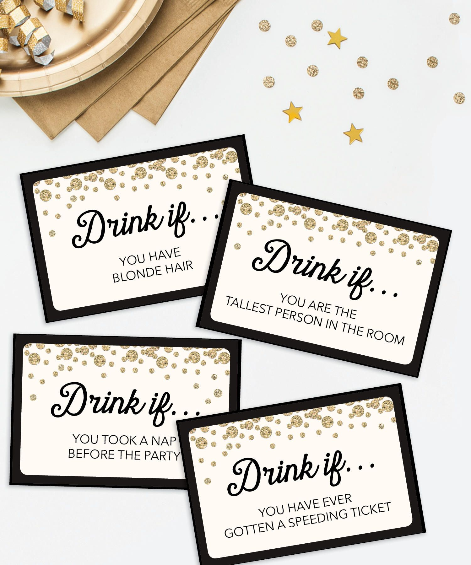 Bachelorette Party Game  Drink If Game  Printable Bachelorette