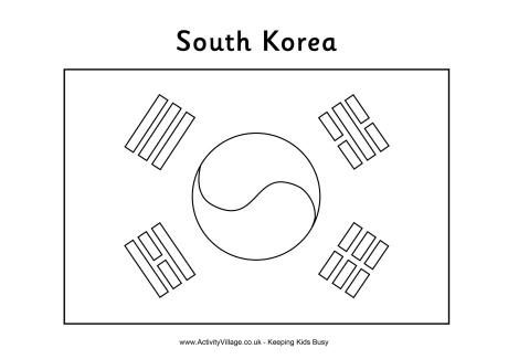 Olympic Flag Coloring Pages Flag Coloring Pages South Korea
