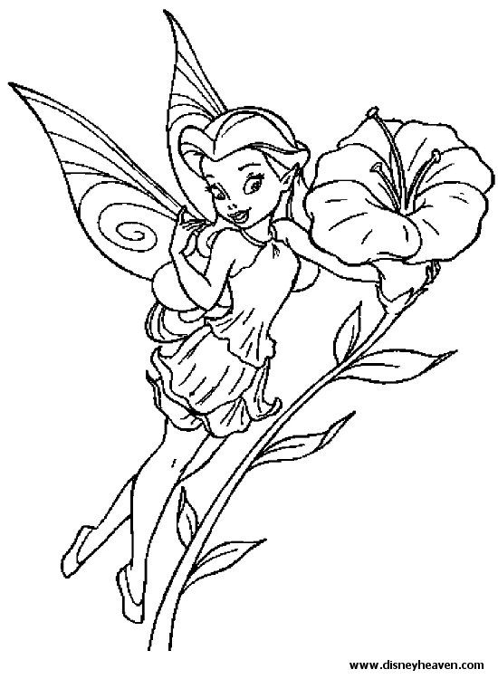 Rosetta Tinkerbell Coloring Pages Fairy Coloring Pages Disney Coloring Pages