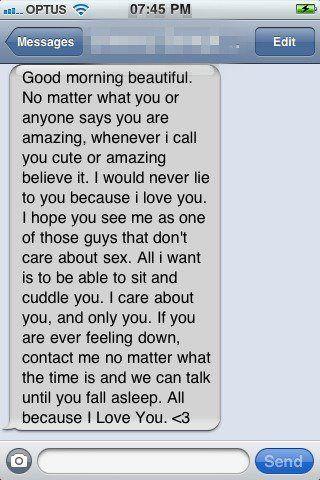 Awww! Good morning texts <3 | My imaginary boyfriend lmao!!! A ...