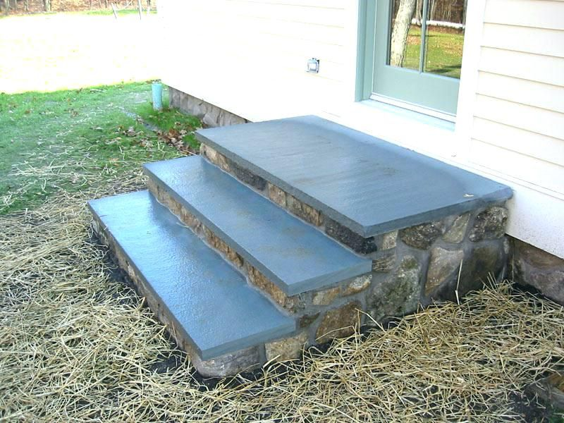 back door steps and patio - Google Search | Patio stairs ... on Backdoor Patio Ideas id=65958