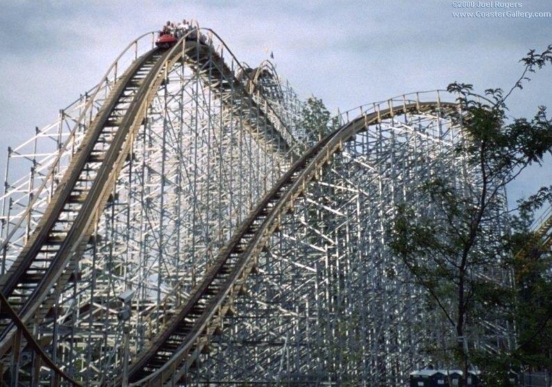 Villain Six Flags Worlds Of Adventure 2000 2007 Lake Park Lake Roller Coaster
