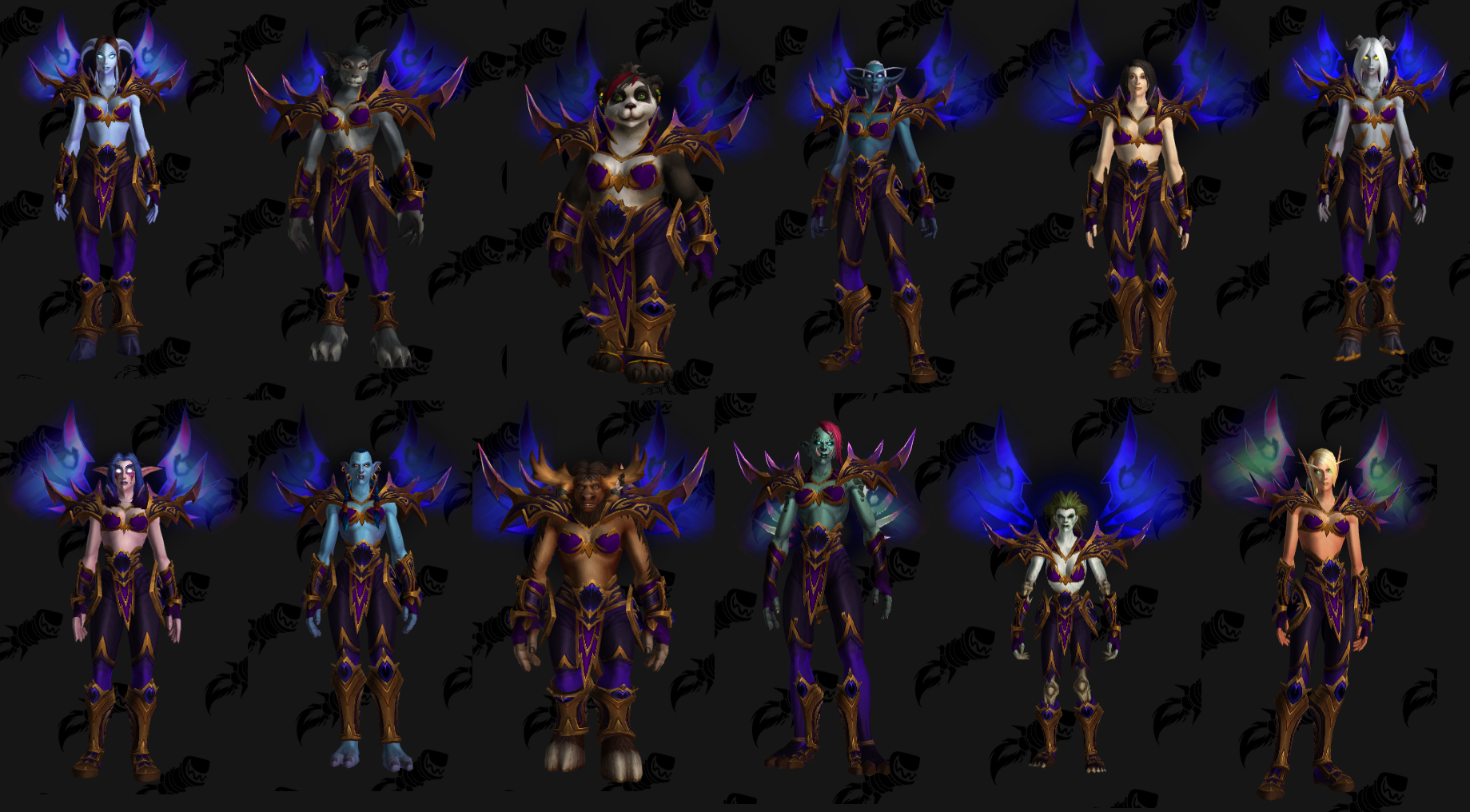 Void Elf Heritage Armor On Females Of Other Races Gnomes And Goblins Not Included Worldofwarcraft Blizzard Hearthstone Wow Elf World Of Warcraft Goblin Void elf tabards are now on the ptr. void elf heritage armor on females of