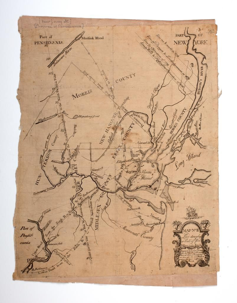 Map Of A Part Of Northern New Jersey And New York City Shows Old - New york jersey map