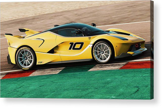 Ferrari Fxx K - 21 Acrylic Print by Andrea Mazzocchetti #ferrarifxx