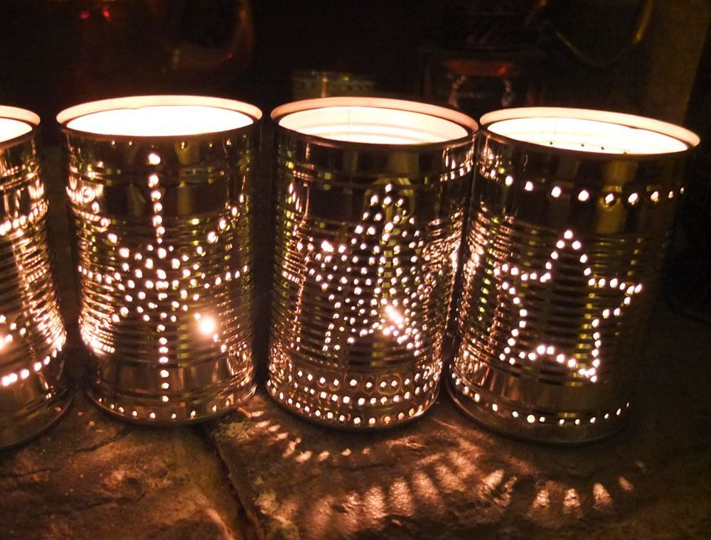 How to Make Tin Can Lanterns for Festive Friday #tincans I love the twinkle and sparkle of Christmas and am a to…                                                                                                                                                                                 More #tincans