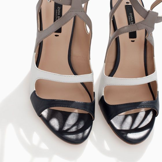 ZARA - WOMAN - STRAPPY HIGH HEEL LEATHER SANDAL