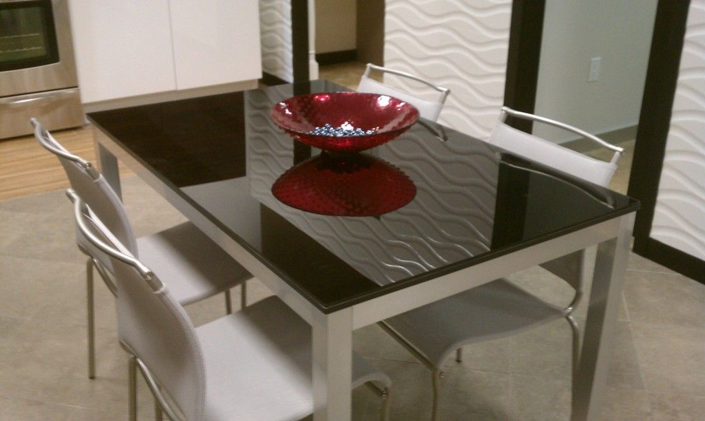 Attractive Black Back Painted Glass Table Top Northern Virginia