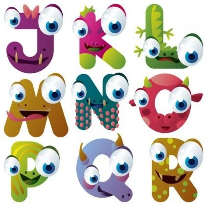 Dibujos Animados Materiales De La Garganta Letras Ojos Creatividad Graphic Design Art Cartoon Character Design Animal Letters