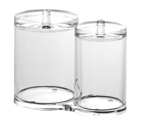 Cotton Ball And Swab Holder By Acrylic     Product Description: This Is Cotton  Ball And Swab Jar Has Two Canisters For Storage Of Cotton Ball And Swabs.
