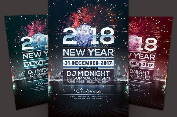 new year flyer by stylewish on creativemarket