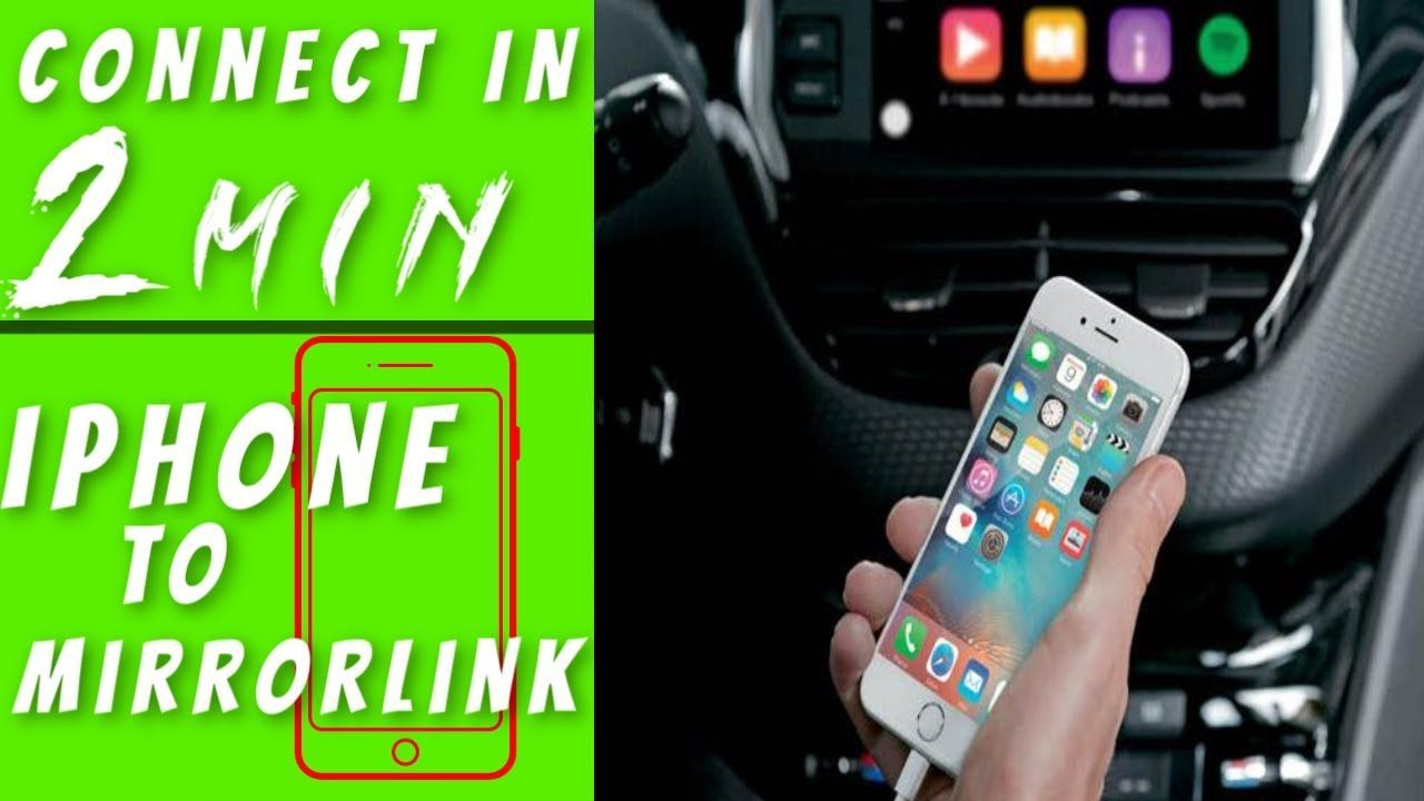 Mirror Phone To Car Screen How Do I Connect My Iphone To Mirrorlink 2019 Kayhan Audio Kayhan Audio Mirror Phone To Car Screen In 2020 Connection Phone Iphone