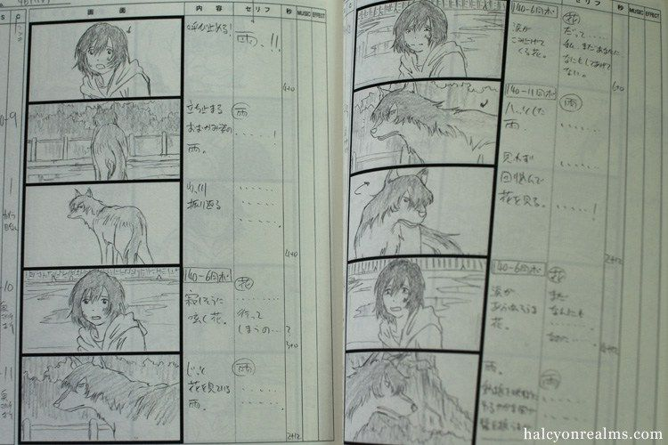 Wolf Children Storyboard Book  Mamoru Hosoda    Wolf
