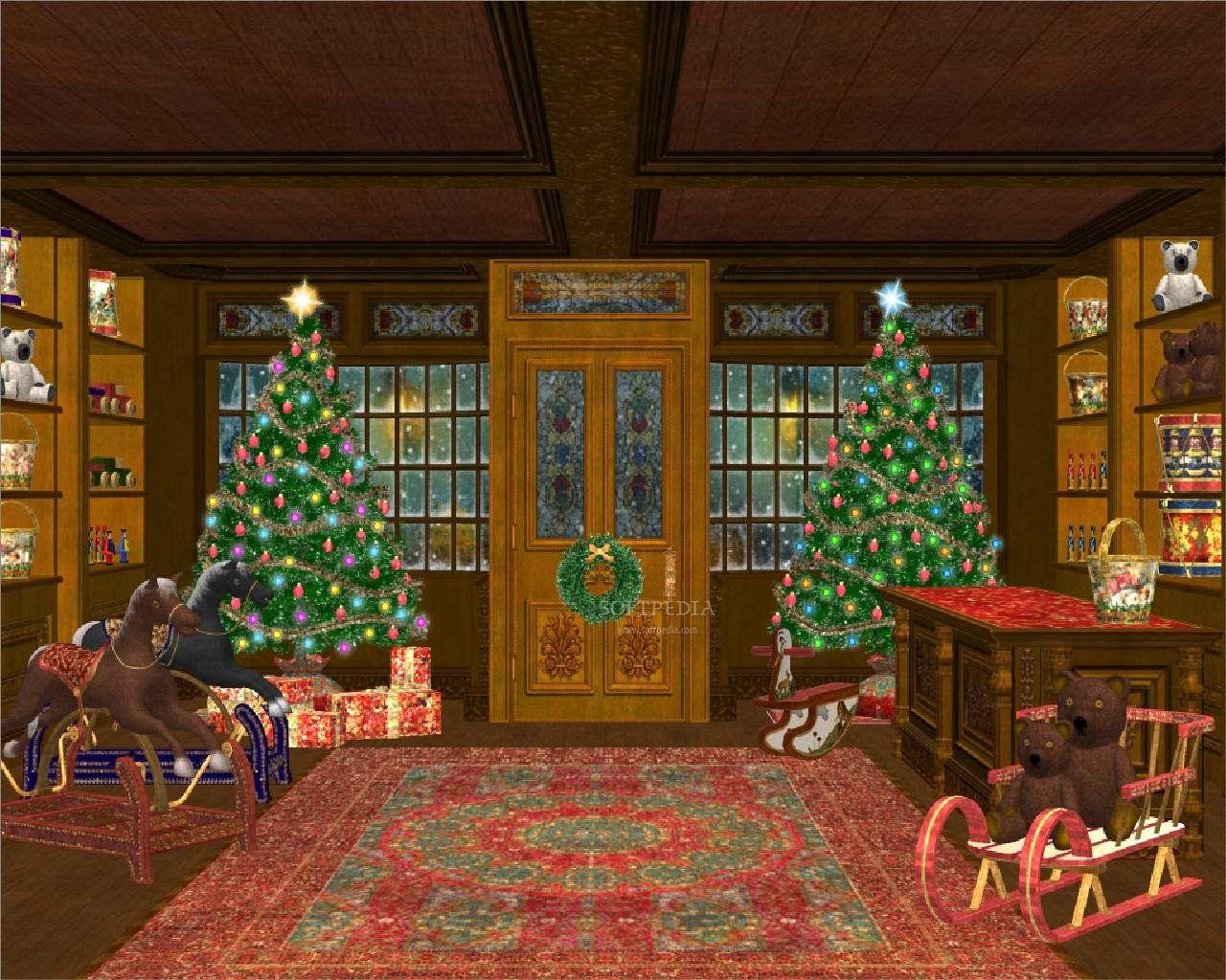 free animated christmas desktop wallpaper definition