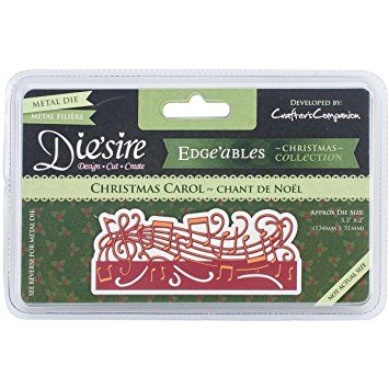 Crafters Companion DEDGE-CCAR Diesire Edgeables Cutting & Embossing Die – Christmas Carol Review