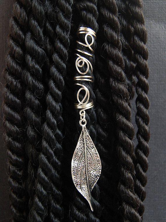 Spiral Leaf Dreadlocks Bead Dread Beads Wire Dreadlock