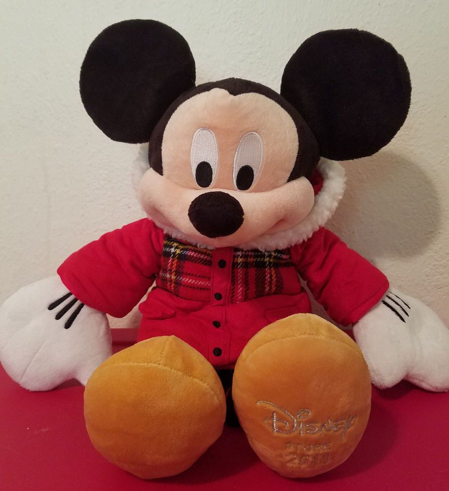 18 disney store mickey mouse le 2011 christmas holiday winter plaid coat plush plaid coat - Disney store mickey mouse ...