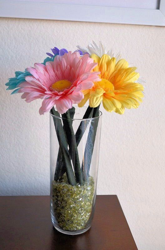 Diy Flower Pens To Bring Color Into My Cubicle Flower