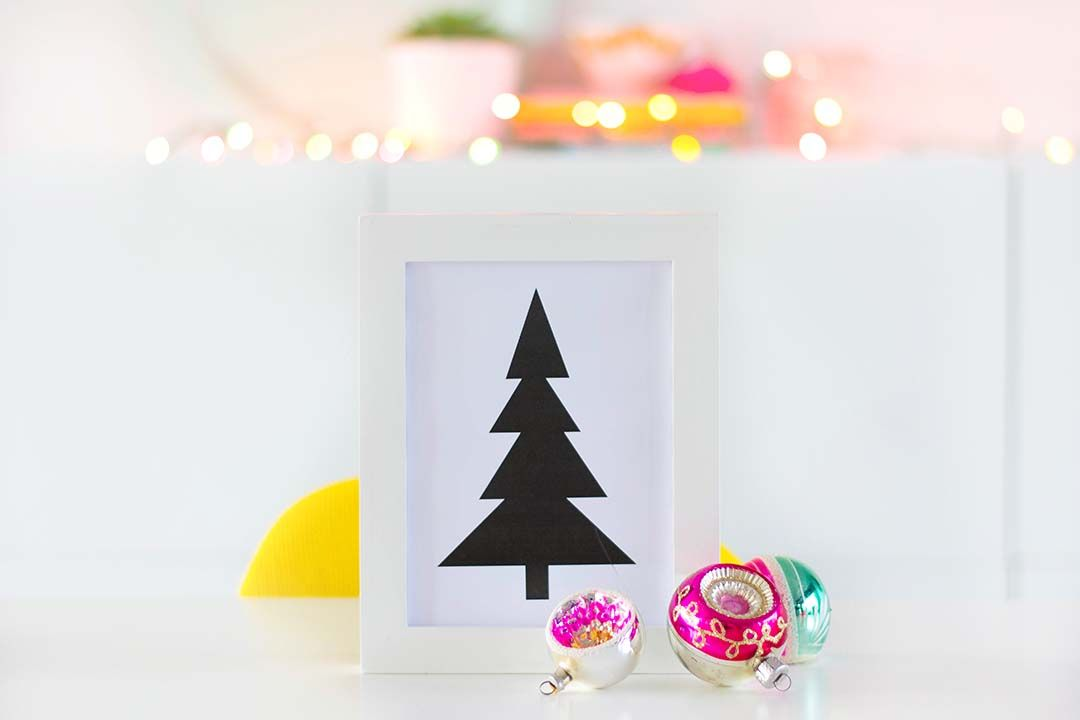 Free printable - Not so perfect Christmastree - Bringinghappiness.nl